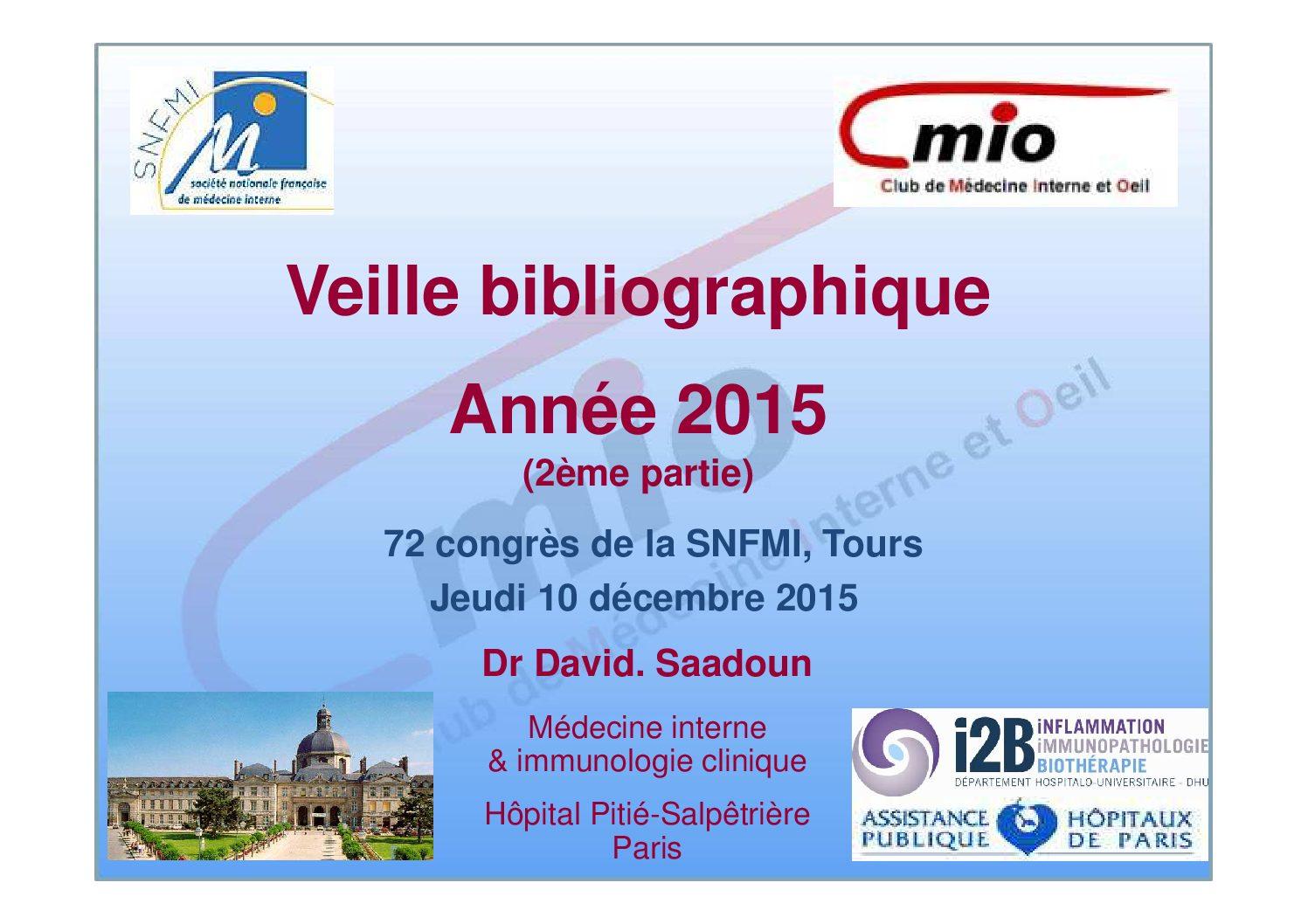 Veille bibliographique – année 2015 (2)