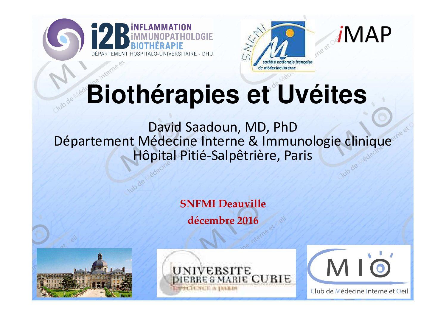 Biothérapies et uvéites