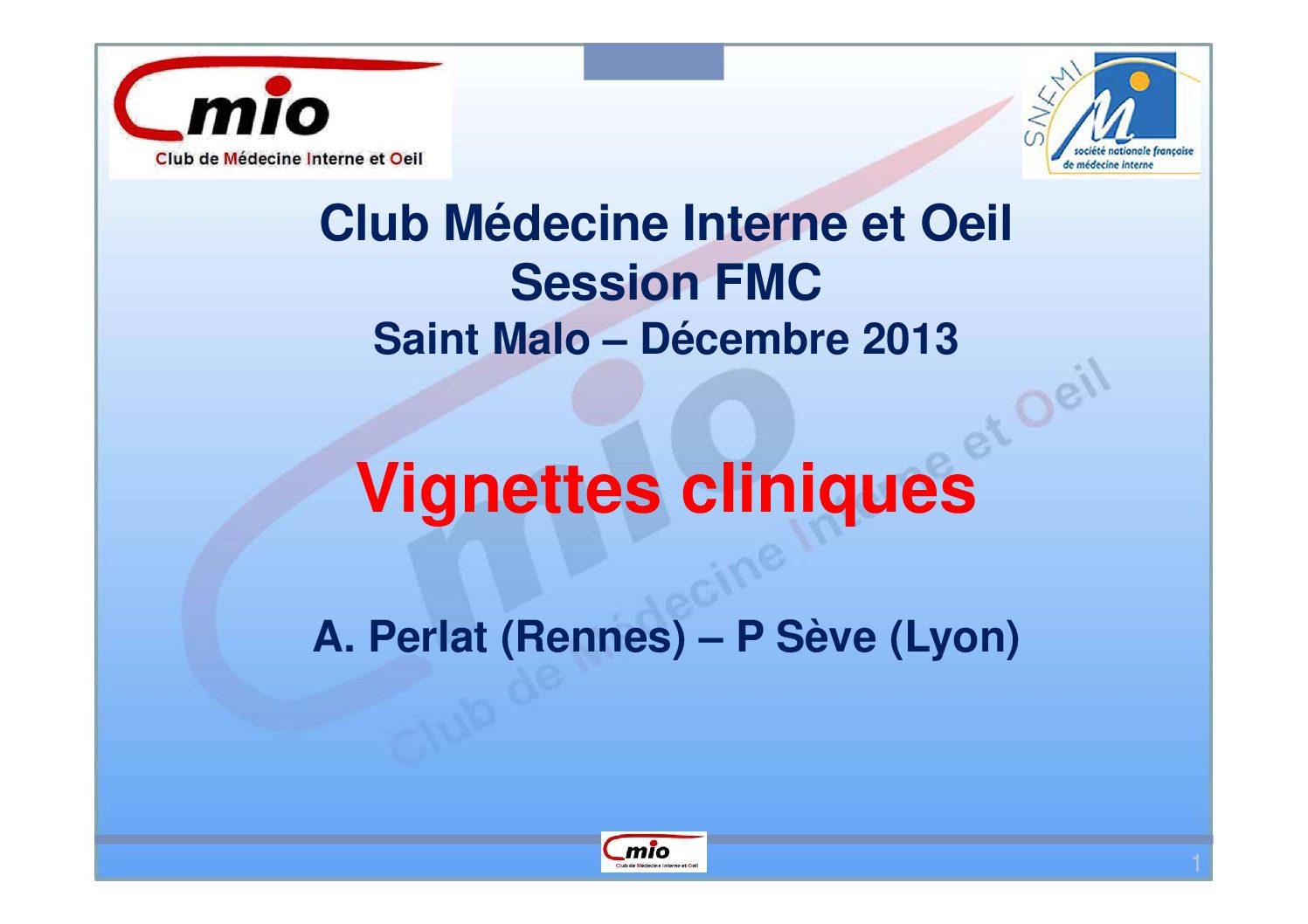 Vignettes cliniques