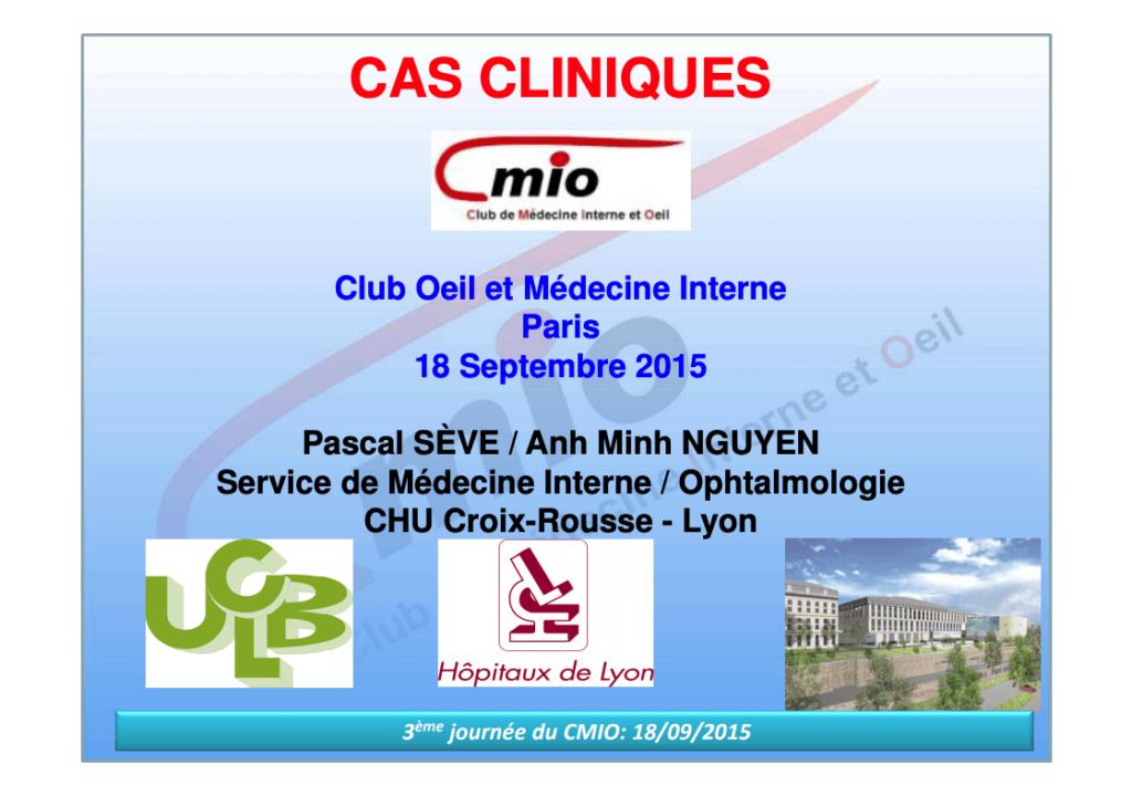 Cas cliniques Cover