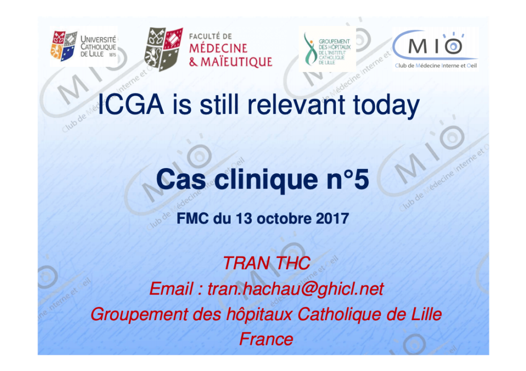 ICGA is still relevant today cover