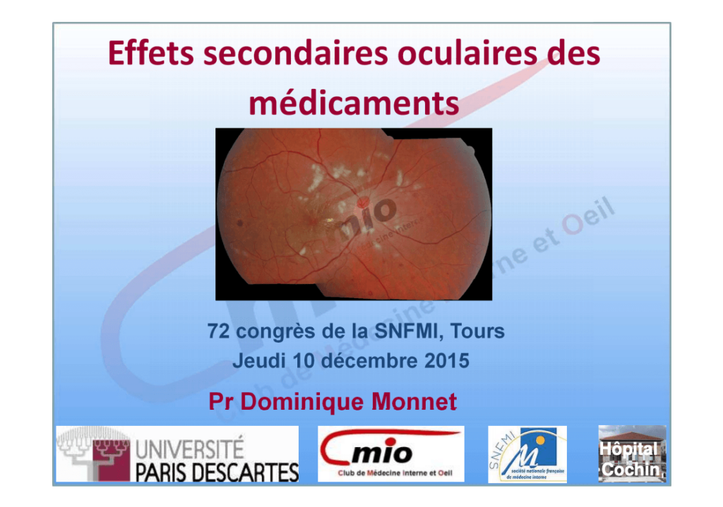 Effets secondaires oculaires des médicaments