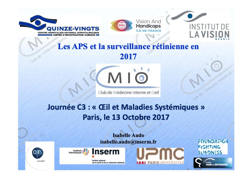 Les APS et la surveillance rétinienne en 2017 Cover