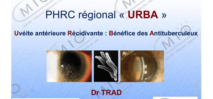 Uvéites et tuberculoses : PHRC régional URBA